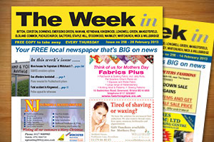 Cover of The Week In Keynsham newspaper