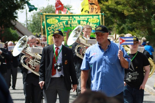 Bob Crow at the Tolpuddle Festival