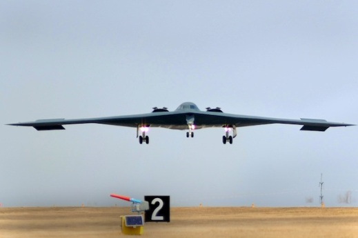 WHITEMAN AIR FORCE BASE A B-2 Stealth bomber returns from a mission March 20, 2011